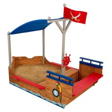 Kidkraft Outdoor Sandkasten Piraten mit Poolabdeckung