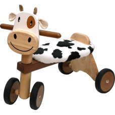 Ich bin Toy Balance Bike Cow Brown
