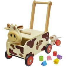 Ich bin Toy Carriage Cow Brown