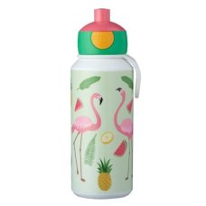 Trinkflasche Campus Pop-Up 400 ml Tropischer Flamingo