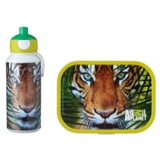 Trinkflasche und Lunchbox Animal Planet Tiger Green