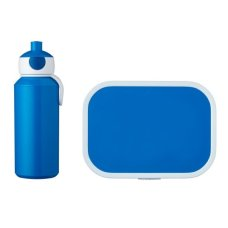 Trinkflasche und Lunch Box Campus Blue