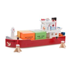 New Classic Toys Containerschiff mit 4 Containern