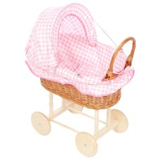 Playwood Doll Reed Reed Stoff Kapuze mit rosa Checkers