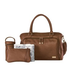 Isoki Wickeltasche / Wickeltasche Double Zip Satchel Redwood Brown