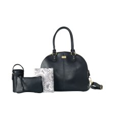 Isoki Wickeltasche Madame Polly Toorak Black